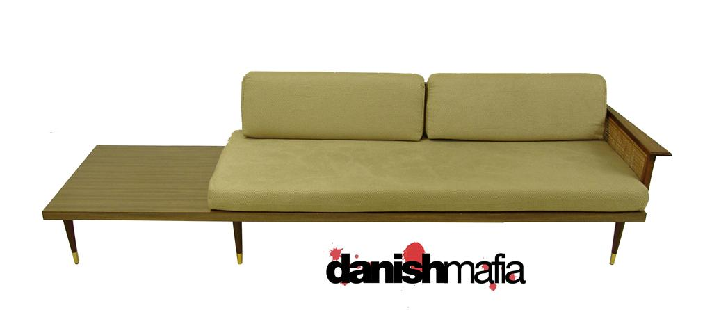 vintage mid century modern sofa couch day bed table danish mafia