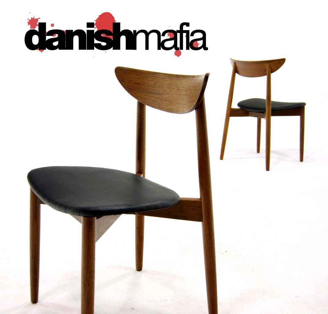 Mid century danish modern pair side dining chair eames for Mid century danish modern chair