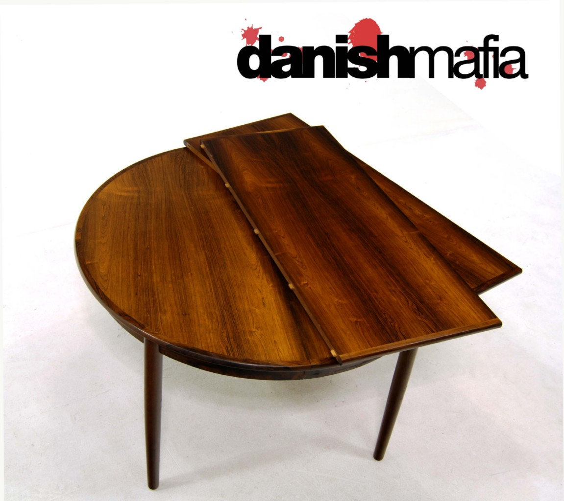 DANISH MODERN BRAZILIAN ROSEWOOD GUDME DINING TABLE