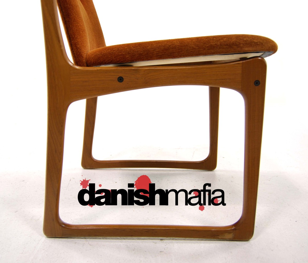 Mid Century Danish Modern Teak Desk Dining Chair Eames