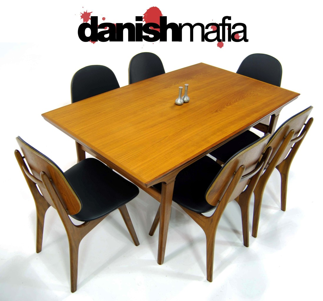MID CENTURY DANISH MODERN TEAK DINING CHAIRS SET EAMES Danish Mafia