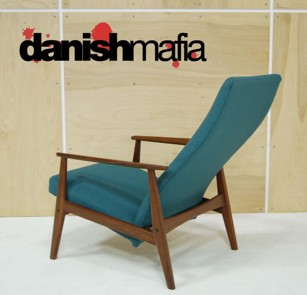 Mid century danish modern recliner lounge chair eames for Mid century danish modern chair