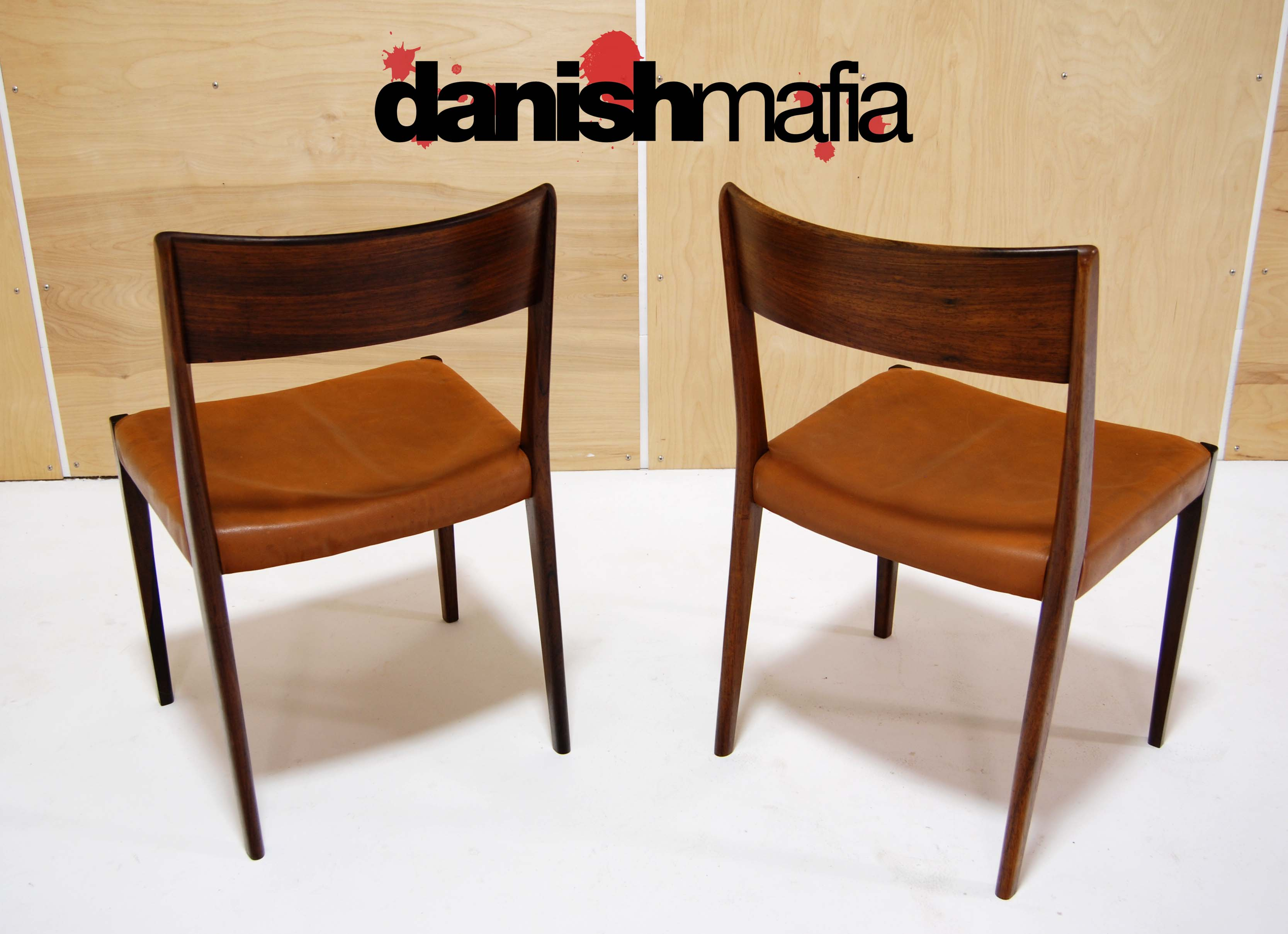 Mid century danish modern rosewood dining chairs eames for Mid century danish modern chair