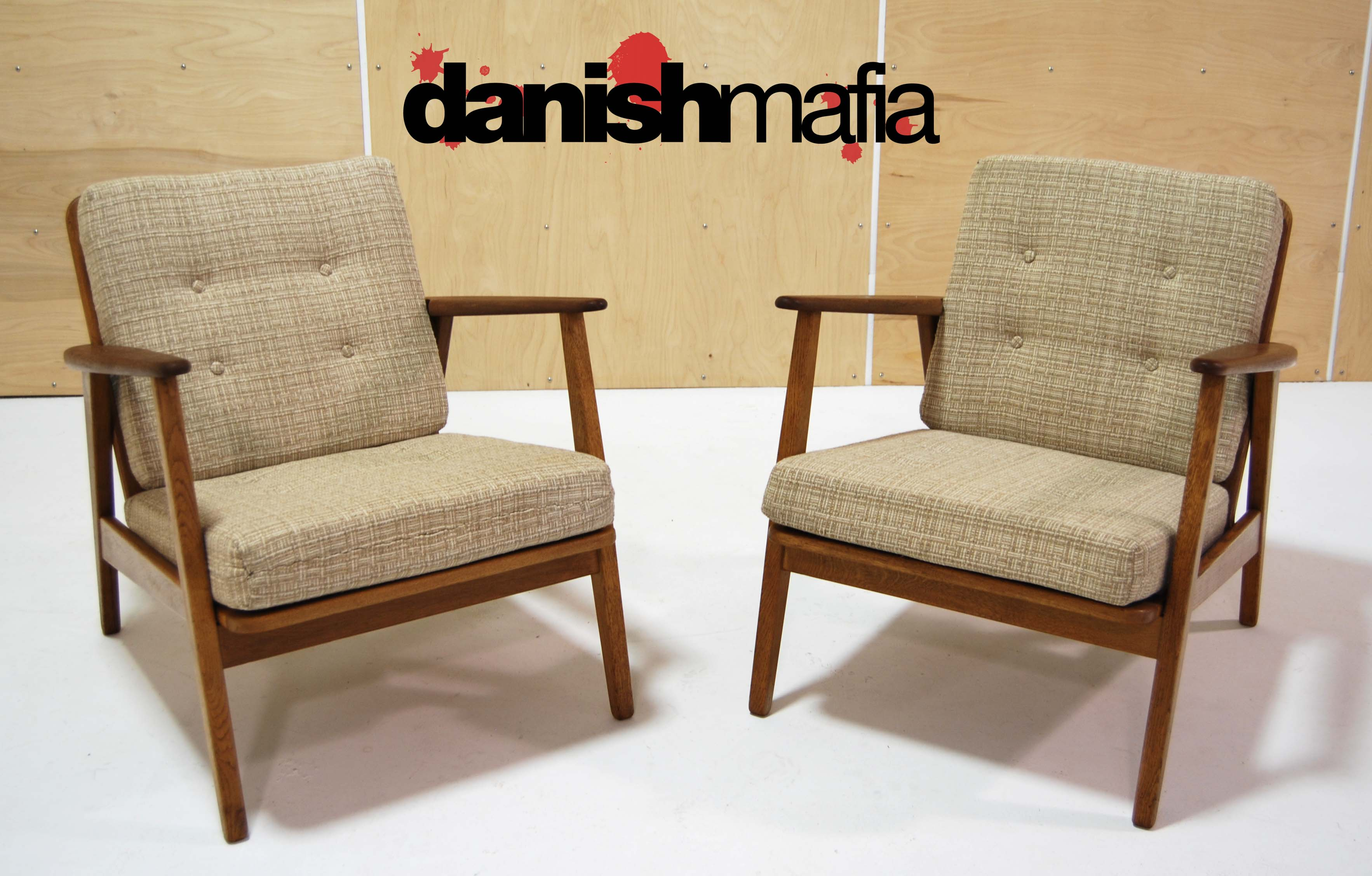 Mid century danish modern wegner lounge chairs eames danish mafia - Danish furniture designers ...