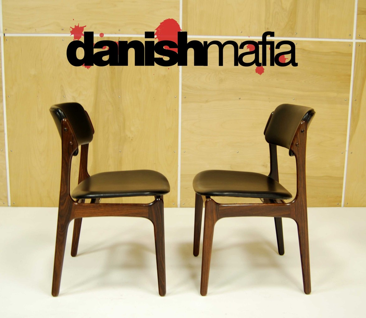 Designer Furniture Warehouse Columbus Ohio: MID CENTURY DANISH MODERN ROSEWOOD ERIK BUCK Chairs 2