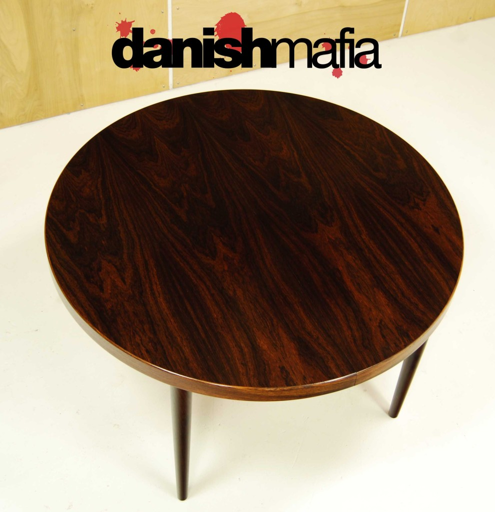 ... MID CENTURY DANISH ROSEWOOD ROUND DINING TABLE 7 ...