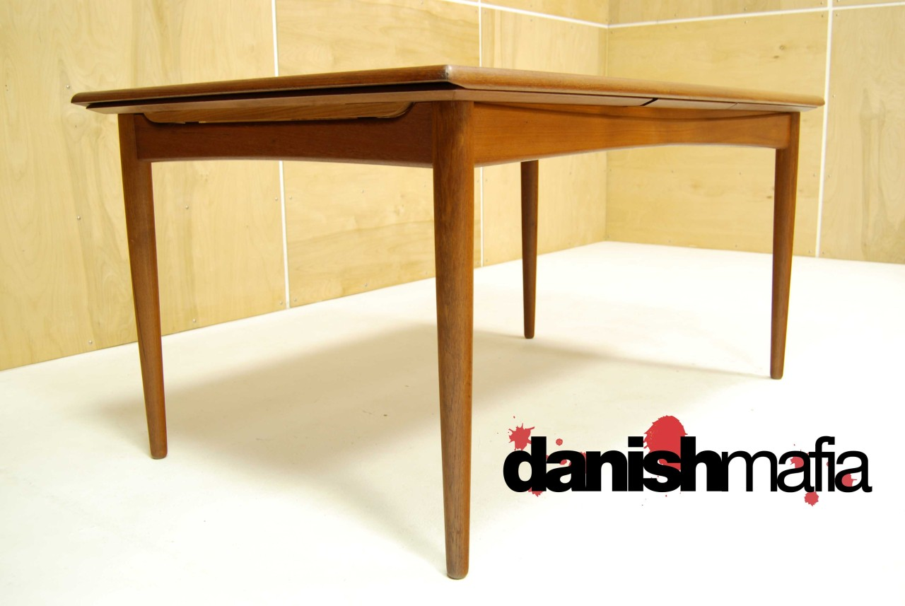 Mid century danish modern arne vodder teak dining table for Mid century modern dining table