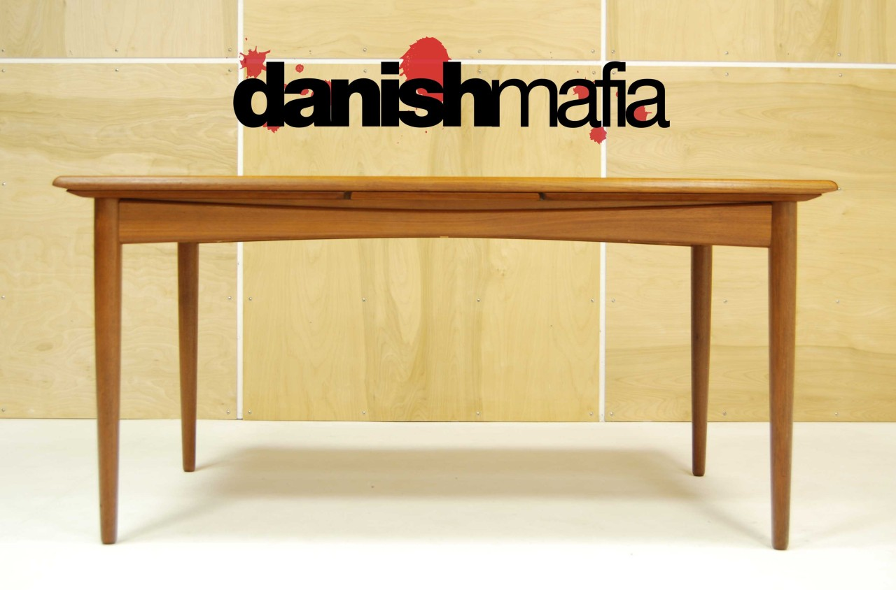MID CENTURY DANISH MODERN Arne Vodder TEAK DINING TABLE  : Mid Century Teak Dining Table 2 from www.danishmafia.com size 1280 x 844 jpeg 135kB
