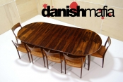 MID CENTURY DANISH MODERN Gunni Omann #55 Omann Jun Rosewood Dining Table