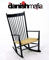 DANISH MODERN WEGNER J16 ROCKER ROCKING LOUNGE CHAIR