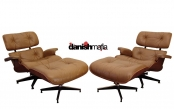 PAIR of Mid Century Modern Rosewood Eames Lounge Chairs