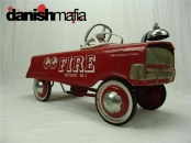 Antique 50's Metal Murray Red Fire Truck Battalion No.1