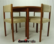 Petit Mid Century DANISH MODERN Teak Dining Set Table & Chairs