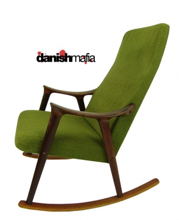 retro danish mid century modern rocker rocking chair nr danish mafia