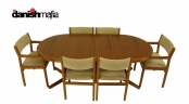 MID CENTURY DANISH MODERN Dining Table Chair Set Eames