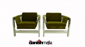MID CENTURY HOLLYWOOD REGENCY BAUGHMAN STYLE CHAIRS NR