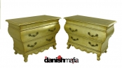 MATCHED MID CENTURY HOLLYWOOD REGENCY GILDED BOMBAY SIDE CABINETS
