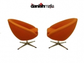 PAIR MID CENTURY MODERN EGG POD OVERMAN Side Chairs