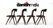 MID CENTURY DANISH MODERN TEAK DINING CHAIRS EAMES