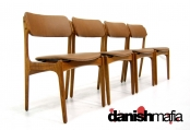 MID CENTURY DANISH MODERN TEAK BUCK DINING CHAIRS
