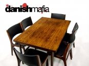 MID CENTURY DANISH MODERN ROSEWOOD OMANN DINING TABLE