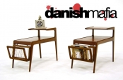 MID CENTURY DANISH MODERN SIDE END NIGHTSTAND TABLES