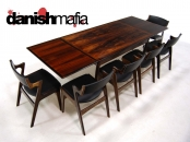 MID CENTURY DANISH MODERN ROSEWOOD DINING TABLE EAMES
