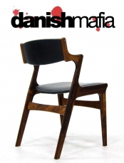 MID CENTURY DANISH MODERN ROSEWOOD DINING CHAIRS EAMES