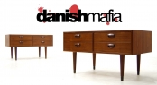 MID CENTURY DANISH MODERN SIDE END TABLES NIGHTSTANDS
