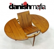 JL MOLLER MID CENTURY DANISH MODERN TEAK DINING TABLE