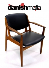 MID CENTURY DANISH MODERN ARNE VODDER ARM DESK CHAIR