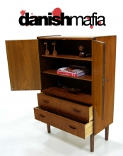 Mid Century Danish Modern TEAK HIGH TALL BOY DRESSER CHEST