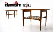 MID CENTURY DANISH MODERN TEAK SIDE END TABLES EAMES