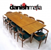 MID CENTURY DANISH MODERN VODDER TEAK DINING TABLE