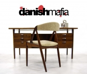 MID CENTURY DANISH MODERN ROSEWOOD DESK DINING CHAIR