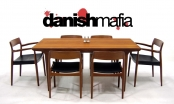 MID CENTURY DANISH MODERN TEAK DINING TABLE EAMES