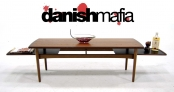 MID CENTURY DANISH MODERN TEAK COFFEE SOFA TABLE EAMES