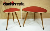 MID CENTURY MODERN ATOMIC MCM SIDE END TABLES EAMES