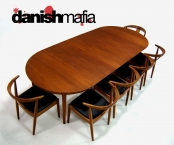 MID CENTURY DANISH MODERN HUGE TEAK DINING TABLE EAMES