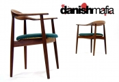 MID CENTURY DANISH MODERN TEAK DINING ARM CHAIRS EAMES