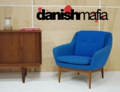MID CENTURY DANISH MODERN TEAK LOUNGE CHAIR