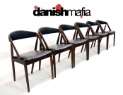 MID CENTURY DANISH MODERN ROSEWOOD DINING CHAIRS SET