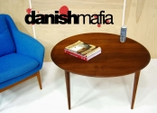 MID CENTURY DANISH MODERN SOLID TEAK COFFEE SOFA TABLE