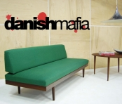 MID CENTURY DANISH MODERN TEAK SOFA DAYBED COUCH EAMES