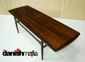 MID CENTURY DANISH MODERN ROSEWOOD SOFA COFFEE TABLE