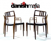 MID CENTURY DANISH MODERN ROSEWOOD DINING CHAIRS MOLLER