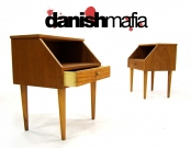 MID CENTURY DANISH MODERN TEAK NIGHTSTANDS END TABLES