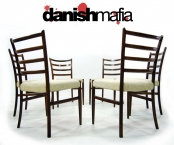 SET OF 6 MID CENTURY DANISH MODERN ROSEWOOD DINING CHAIRS