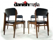 MID CENTURY DANISH MODERN ERIK BUCK ROSEWOOD DINING CHAIRS SET