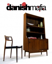MID CENTURY DANISH BORGE MORGENSEN HUTCH WALL UNIT DISPLAY